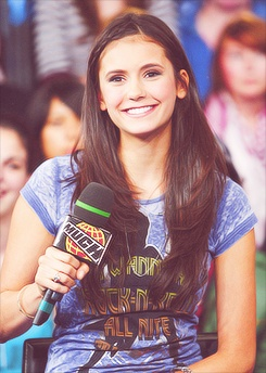 Nina Dobrev being interviewed!!