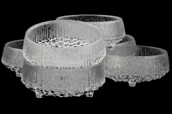 Vintage Iittala Ultima Thule Small Dessert Bowls by fcollectables