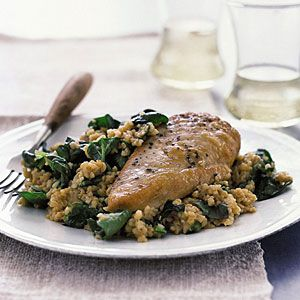 Chicken with Bulgur Pilaf | MyRecipes.com