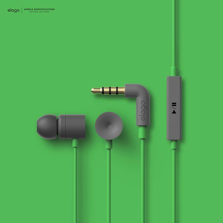 Products we like / In ear Earphones / Green / elago E402M In-Ear Earphones / Consumer electronics
