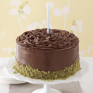 Banana Cake with Chocolate Frosting Recipe from Taste of Home