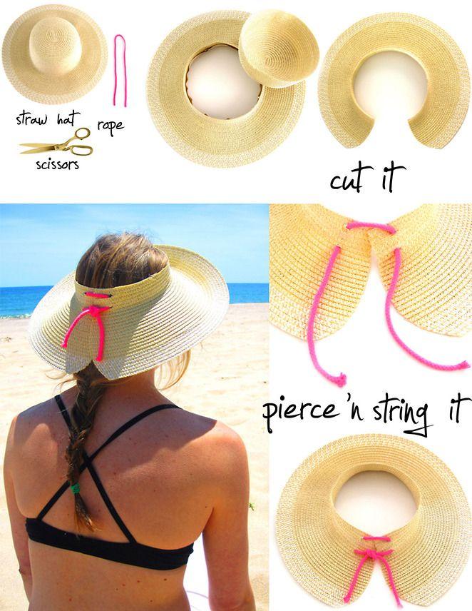 Resultado de imagen para como hacer un sombrero para el sol ... cdab32db693
