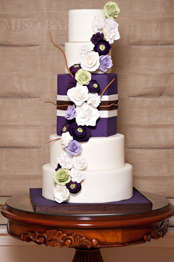 196 best Purple Wedding Cakes images on Pinterest Biscuits