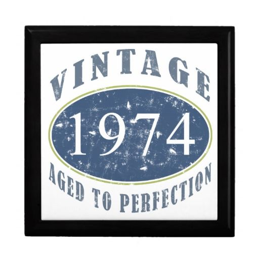 Vintage 1974 Birthday Gift Boxes #40 #40th #40thbirthday