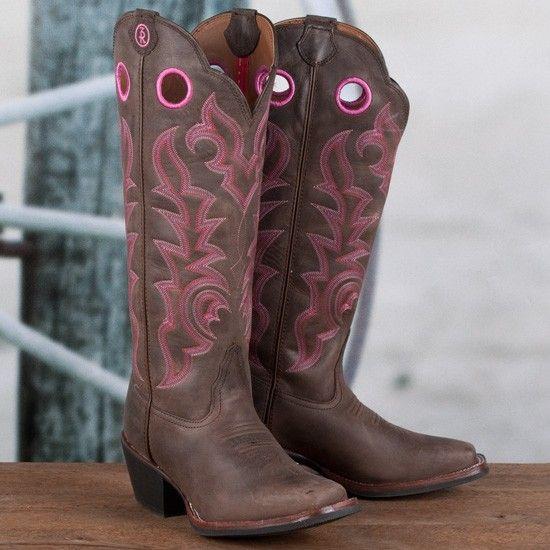 Tony Lama Brown Buckaroo Boots