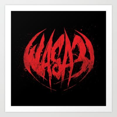 Bloody.Logo. Art Print by WASA3I - $17.00