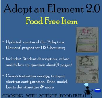 Create a custom periodic table with your class by using for Adopt an element project ideas