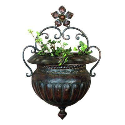 DecMode Traditional Metal Wall Planter - 18 in.