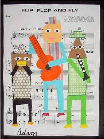 """Oh what a fun way to interpret the Three Musicians! """"Picasso's 3 musicians project--art and music collab project"""""""