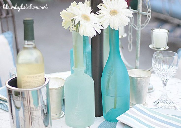 These beautiful sea glass vases are actually an easy DIY project. Do you have leftover liquor or wine bottles? Those old florist vases you received? Follow this tutorial to transform them into beautiful vases for your table or home decor.