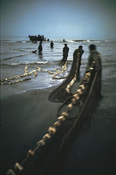 Magnum Photos- View image only Ara Guler IRAN. Caspian sea. Caviar fishermen. 1969