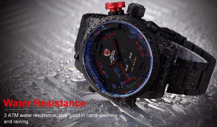 Official Gulper SHARK Men's Military LED Sport Watch