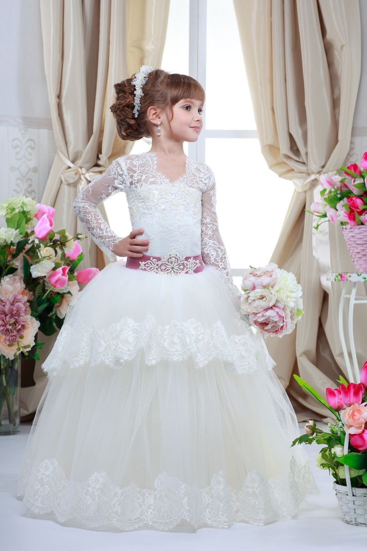 Красивые свадебные платья для детей