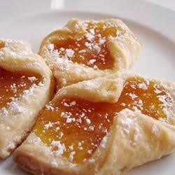 """Cream Cheese Kolacky ~ The dough for these cookies is what makes them exceptional. I always quadruple this recipe for the holidays. Most popular fillings are peach, apricot, raspberry and date. Use your imagination! You better hide a few for Christmas day--- these are the ones that go first!"""""""