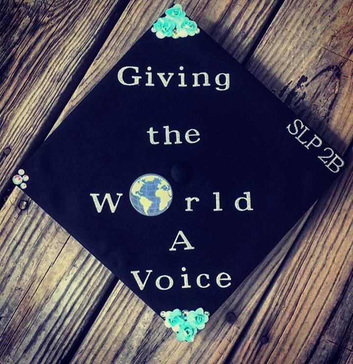 Speech-Language Pathology Themed Graduation Cap by Perri Waisner