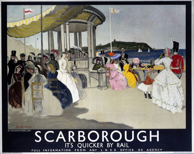 Scarborough : It's Quicker by Rail.