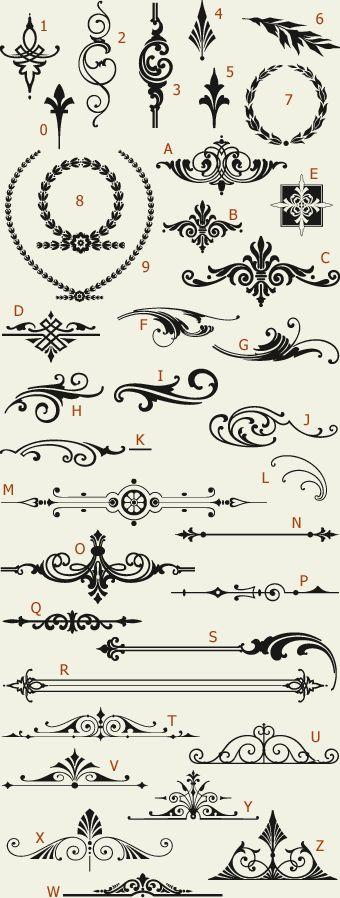 Letterhead Fonts / LHF Americana Ornaments / Golden Era Studios