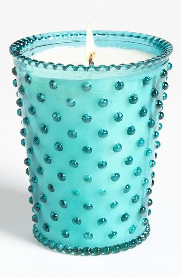 Antique inspired glass candle