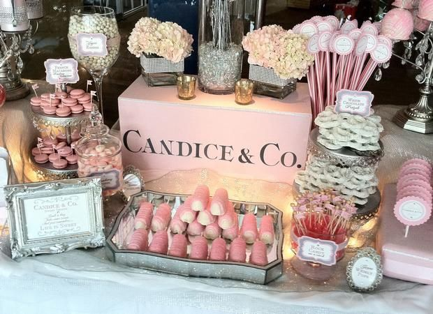 Tiffany & Co. inspired baby shower theme  This is TOO cute, you could do the regular Tiffany Blue if a Boy or this cute pink for a girl 'Kristine & Co.'