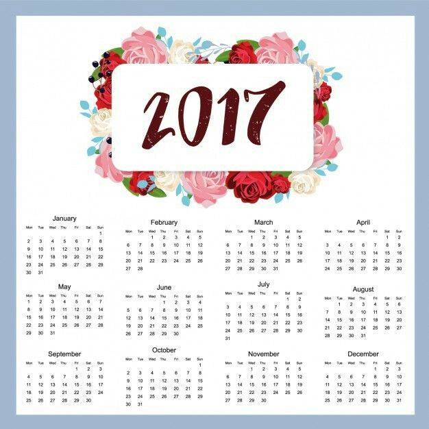 2017 Calender