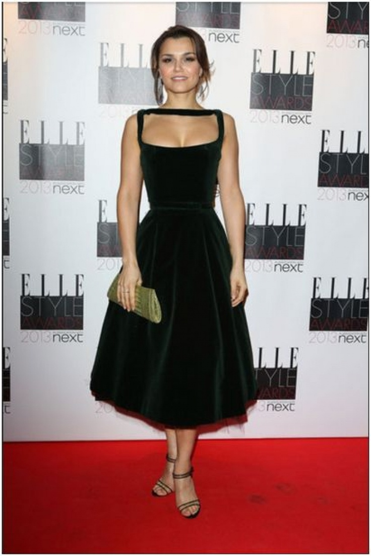 Samantha Barks in Celia Kritharioti Couture