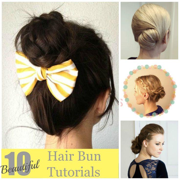 10 Beautiful Hair Bun Tutorials