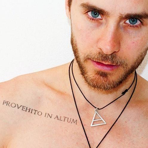 Jared Leto...triad...provehito in altum!! (launch forth into the deep)