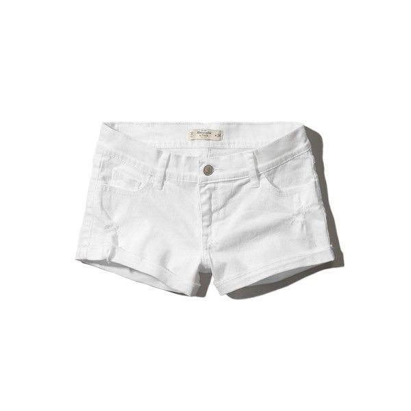 Abercrombie & Fitch Low Rise Short ($24) ❤ liked on Polyvore featuring shorts, bottoms, white, cuffed shorts, abercrombie & fitch, cotton shorts, white shorts and abercrombie & fitch shorts