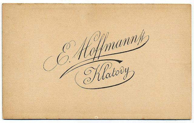 E. Hoffmann, Klatovy - Verso by oldichvondich (josefnovak33´s Alter Ego), via Flickr