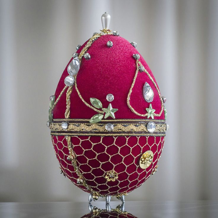 Faberge Egg - red 5b