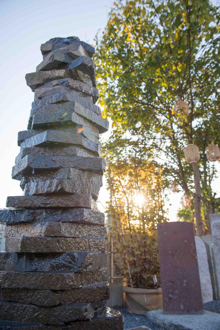Brunnen Aus Basalt Material: Basalt Becken: Chromstahl