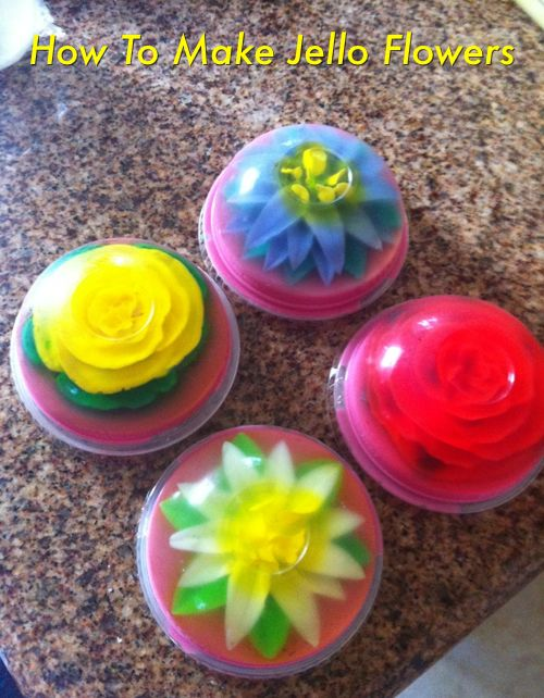 Encapsulated Gelatin Flowers | Flowers http://homestead-and-survival.com/how-to-make-jello-flowers ...