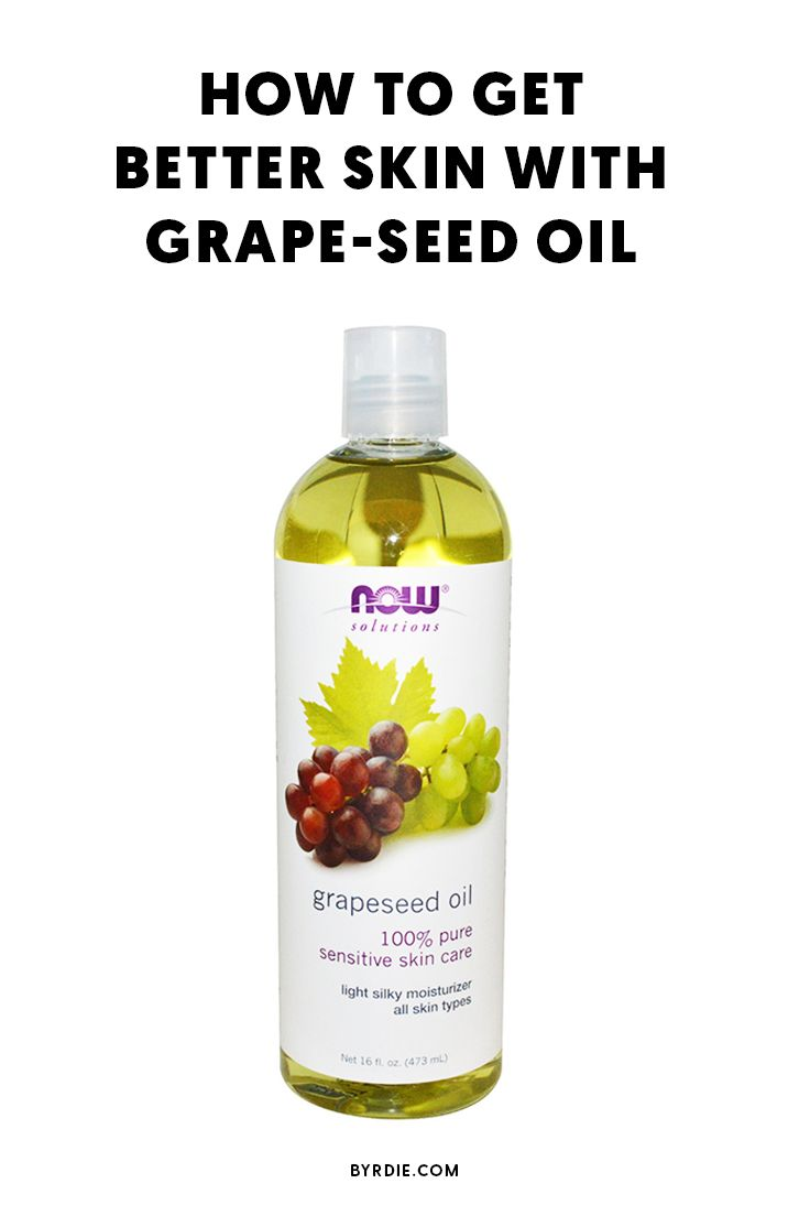 Where to apply grape-seed oil on your skin