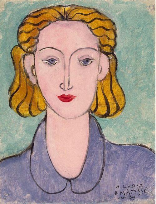 Henri Matisse (1869-1954), Jeune femme au corsage bleu / Young woman in blue blouse, 1939.