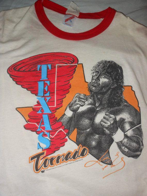 Texas Tornado pro wrestling t shirt - wrestler - nwa wwf wwe vintage XL Kerry Von Erich