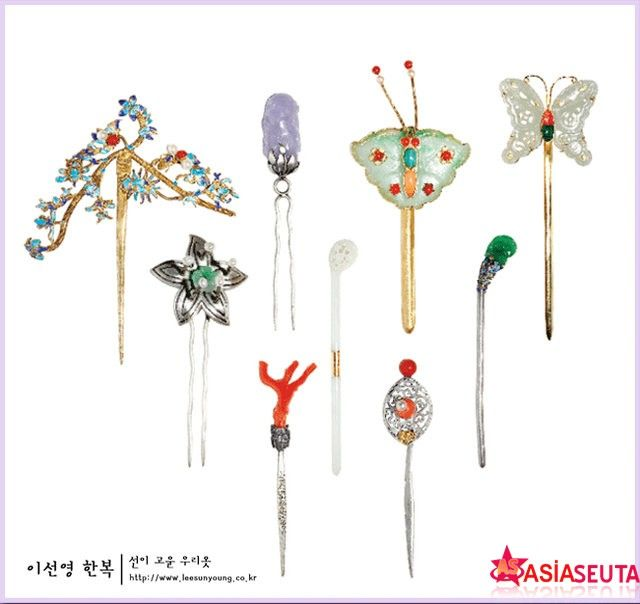 Traditional Korean Accessories | Binyeo (비녀) Traditional Korean Hair Accessory / Geleneksel Kore ...