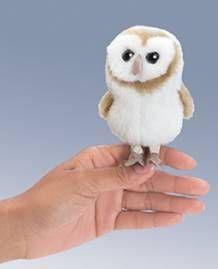 PuppetU.com - Folkmanis Mini Barn Owl Finger Puppet, $7.64 (http://store.puppetu.com/products/Folkmanis-Mini-Barn-Owl-Finger-Puppet.html)