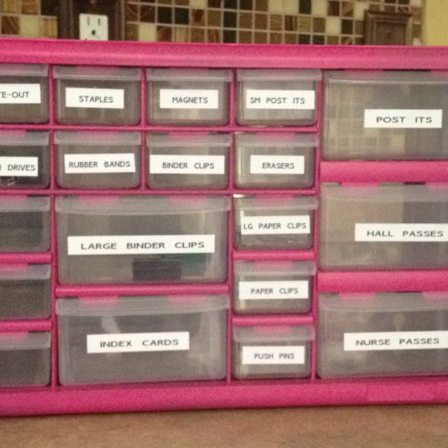 Just made this from a hardware organizer at Home Depot! I'm determined to be super organized next school year!