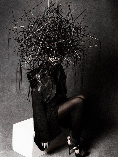 macabre | dark fashion | goth | obscure | high fashion editorial