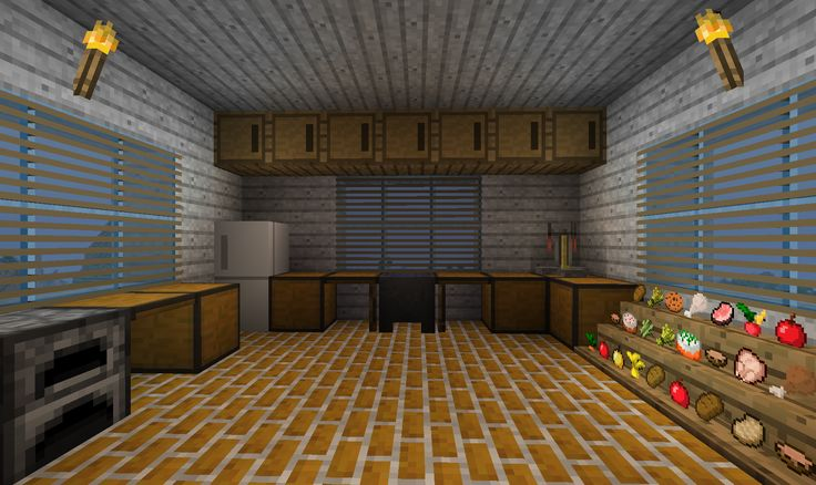 Minecraft kitchen only will use item frames for the food so they dont disapear