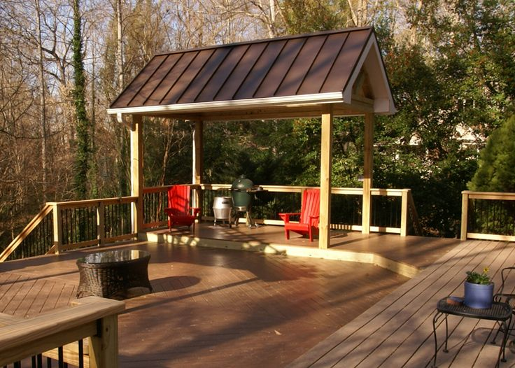 49 best Porches images on Pinterest   Frostings, Decks and ... on Detached Covered Patio Ideas id=75350