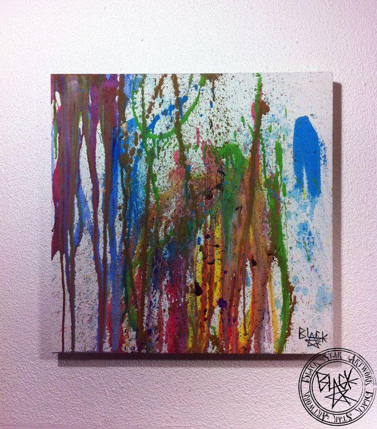 """Vanishing Rainbow""   24"" x 24""   Acrylic on canvas   Black Star Artwork by Leonard Walsh  www.facebook.com/BlackStarArtwork http://bit.ly/1bCN2xI"
