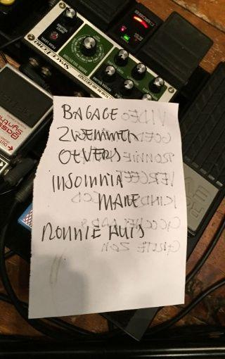 Setlist eerste set