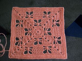 Butterfly Garden square. Free pattern on Ravelry