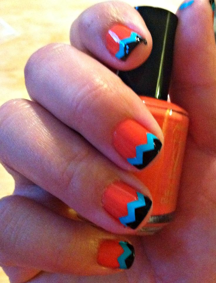 Autumn Nails, Tribal Zigzag, Nails Art, Afternoon, Beautiful, How Chevron Nails, Aztec Toe Nails, Tribal Nails, Southwestern Design