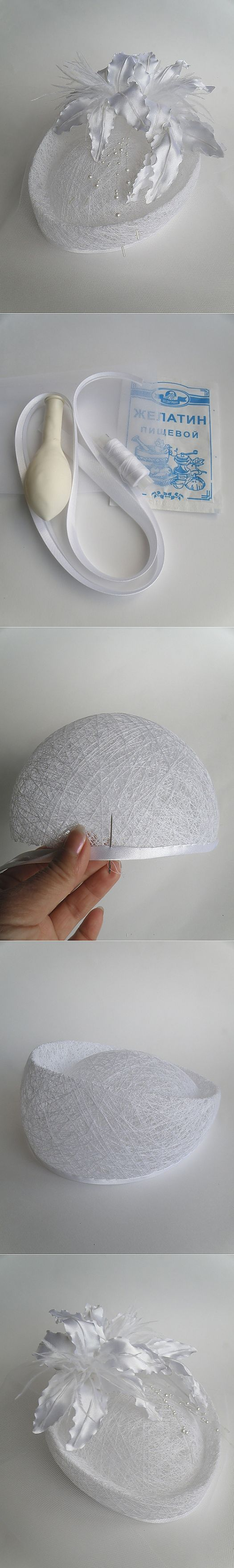 Свадебная шляпка (МК от kupavka).