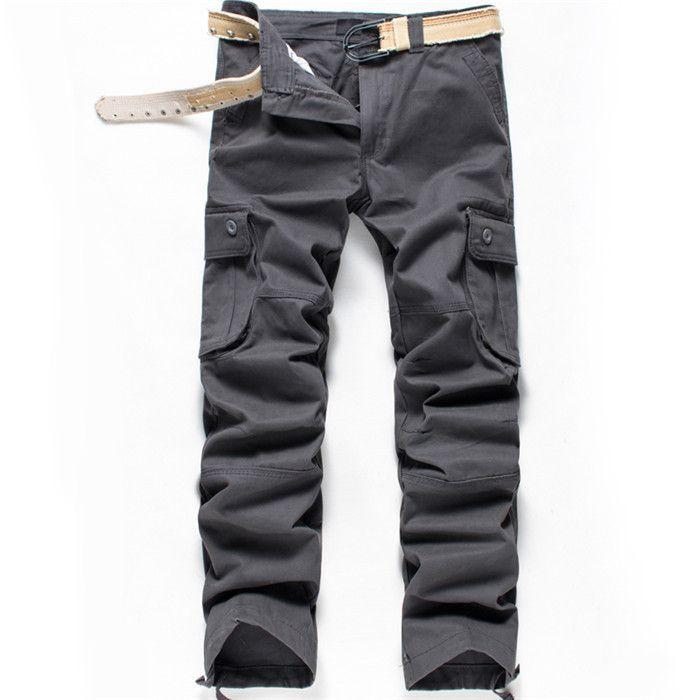 Mens Cargo Pants Cotton Plus Size Men Trousers Joggers