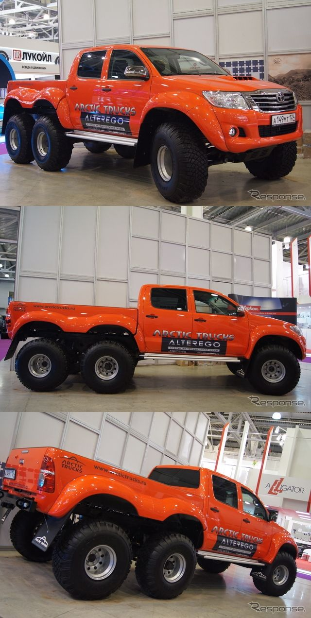 Arctic Trucks feat. Toyota Hilux 6x6. What?!? This thing is NUTS!!
