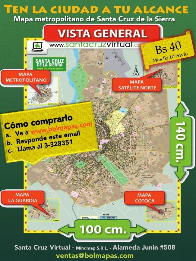 Santa Cruz Virtual - Mapa de Santa Cruz de la Sierra en Oferta