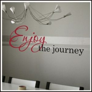 Enjoy the Journey Vinyl Wall Decal | Inspirational Christian Wall Decals